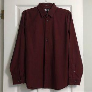 EXPRESS Red 1MX Modern Fit Button Down Shirt